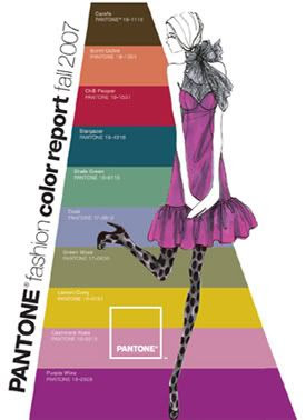 Pantone Colors - Fall 2007 Fashion Week