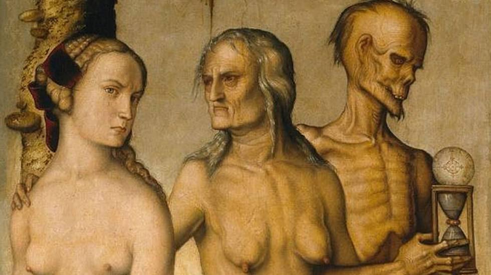 """""""Las edades y la muerte"""" del pintor alemán Hans Baldung """"Grien""""."""