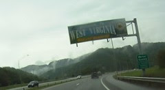 Entering West Virginia