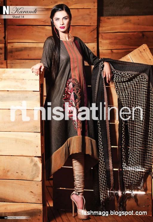 Nishat-Linen-Winter-Dresses-Collection-2013-Nishat-Linen-Fancy-Frocks-Shalwar-Kamiz-1