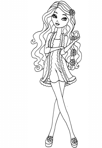 Ever After High Getting Fairest Briar Coloring Page Free Printable
