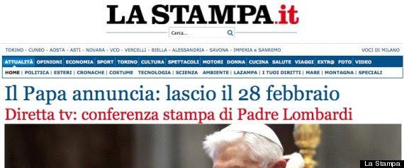 La Stampa Papa