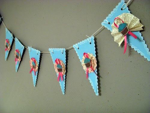 Cupcake Bunting Banner
