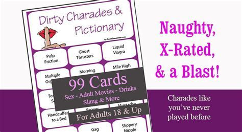 Dirty Charades and Pictionary   99 Printable Cards