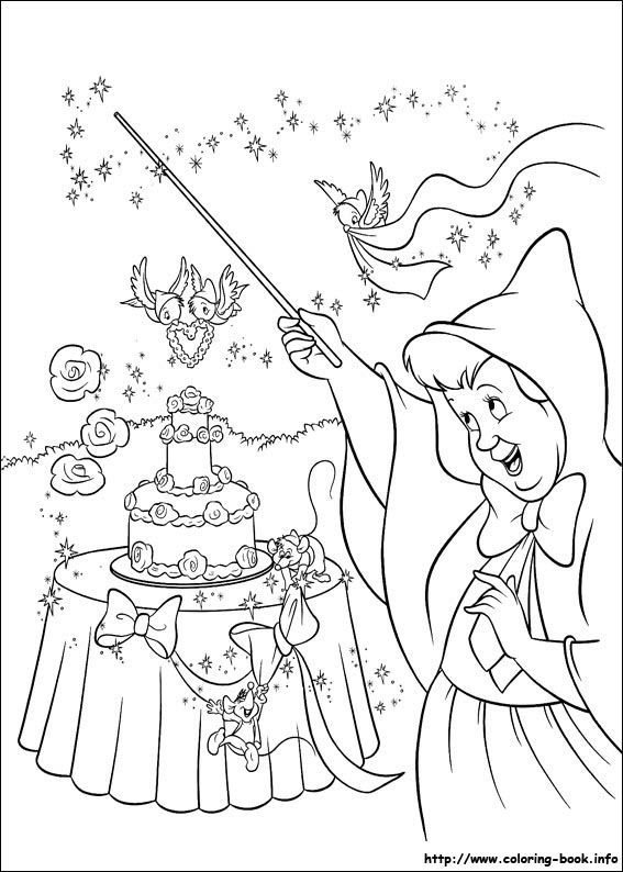 Cinderella Coloring Pages On Coloring Bookinfo