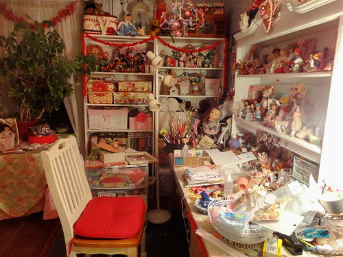messy craft room!
