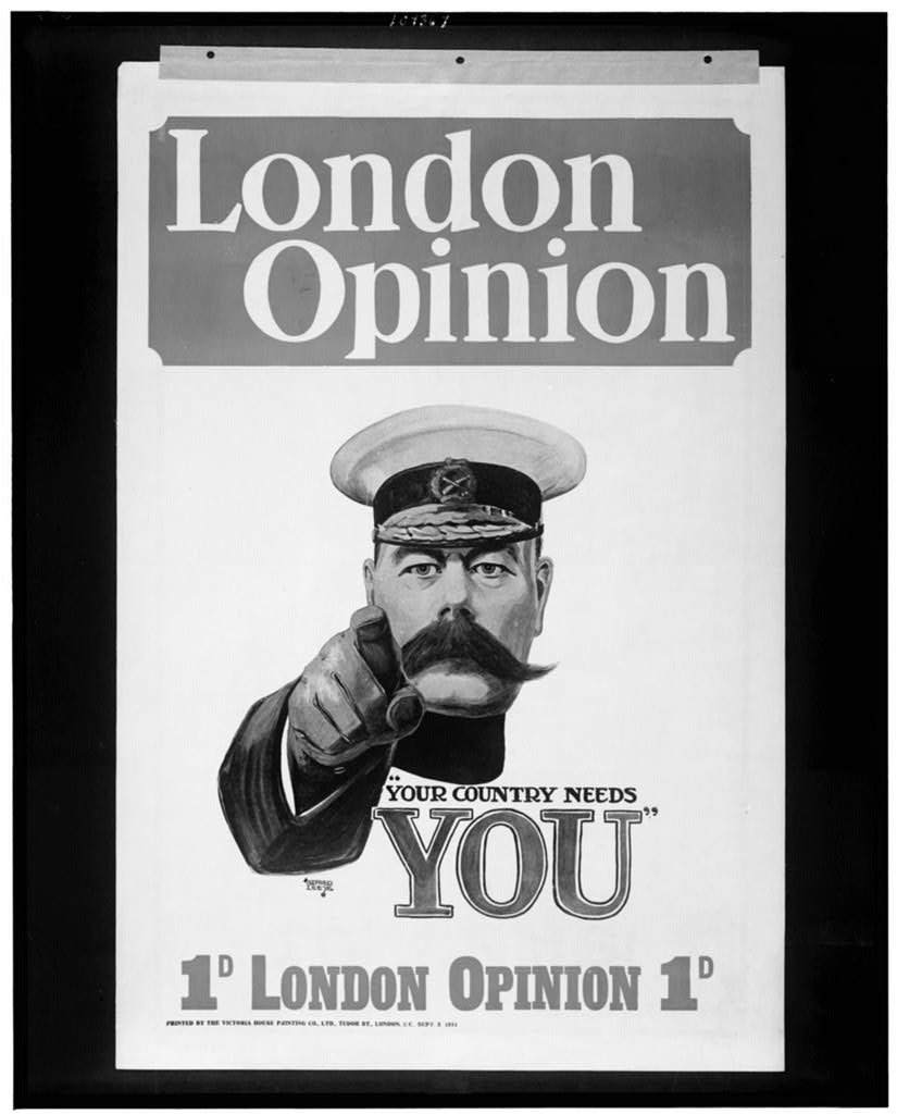 """London opinion """"Your country needs you"""""""