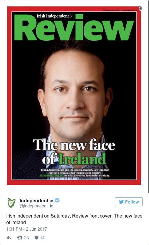 Αποτέλεσμα εικόνας για the new premier of Ireland