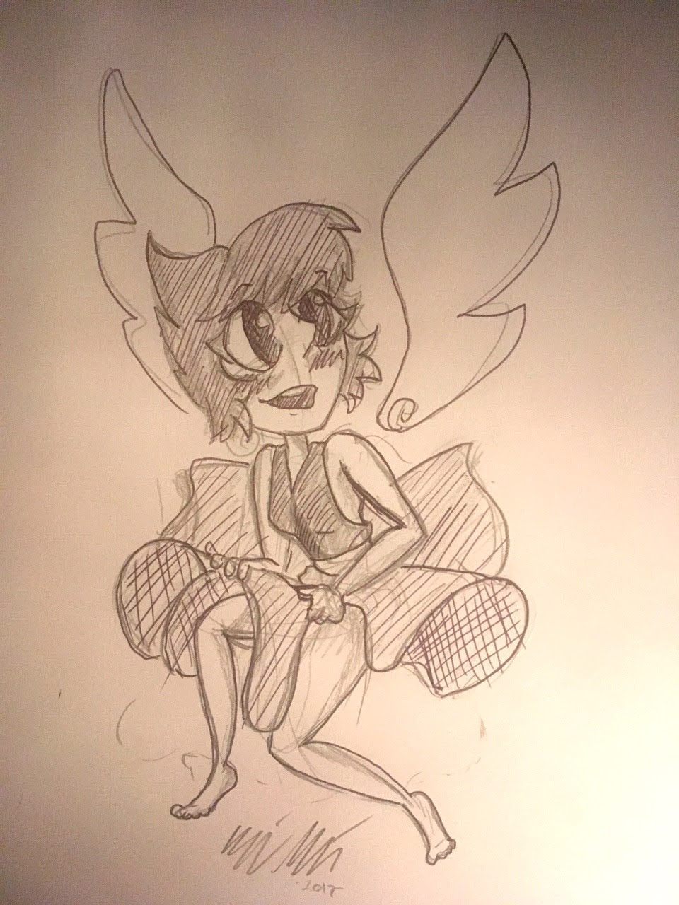 Quick pen and pencil no erase Lapis doodle while in the car on my lunch at work.
