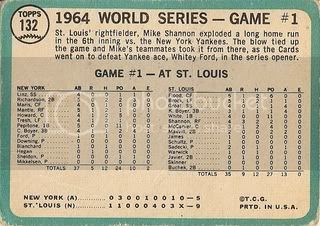 #132 World Series Game One: Cards Take Opener (back)
