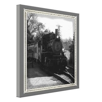 Arcade-Attica Steam Engine Wrapped Canvas wrappedcanvas