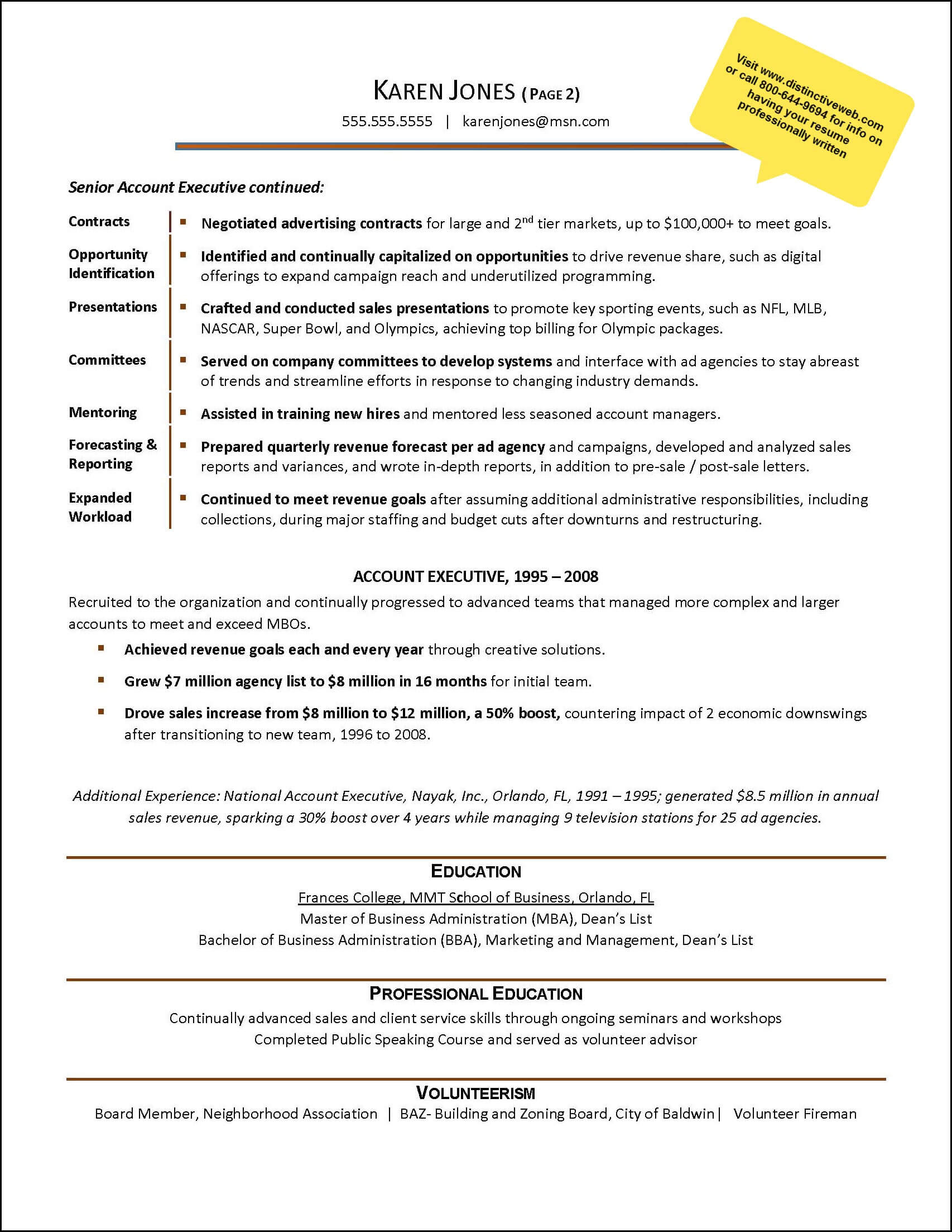 Advertising Example Resume_Page_2