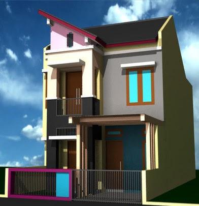 desain rumah ukuran 5 x 12 m 2 lantai - berbagai ukuran