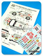 Calcas 1/24 Reji Model - Peugeot 206 WRC Sportcasinos - Nº 22 - Kresta + Hulka - Rally de Montecarlo 2003 para kits de Tamiya TAM24221, TAM24226 y TAM24236