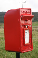 Postbox with starling flap