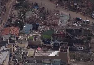 Cidade foi devastada pela chuva (Foto: Reprodução/TV Vanguarda)