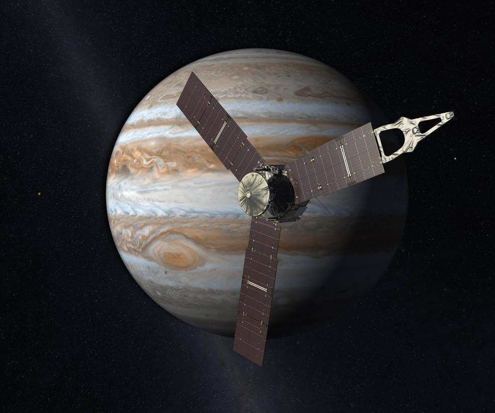 La misión Juno de la NASA a Júpiter ha batido el récord al convertirse en el más distante emisario de energía solar de la humanidad