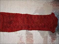 Rusty Dahlia socks, detail