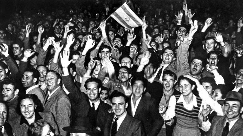 Proclamation de l'indépendance d'Israël le 14 mai 1948.