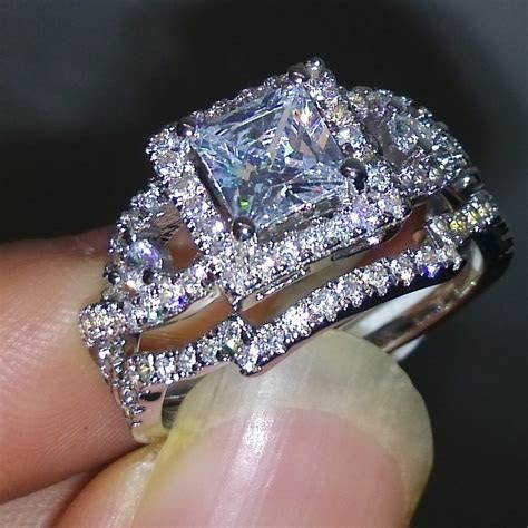Victoria Wieck Dazzling Topaz Simulated Diamond 925 Silver