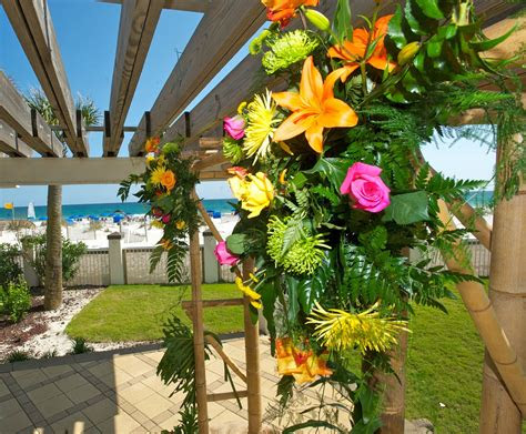wedding ceremony gulf front   pergola