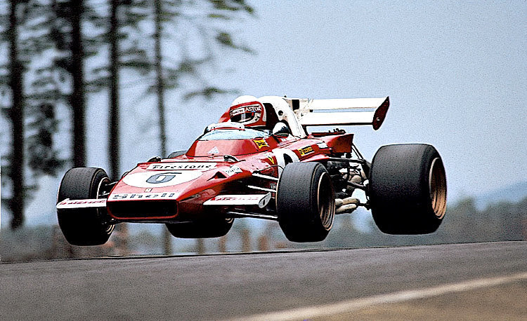The flying Ferrari of Clay Regazzoni in 1971