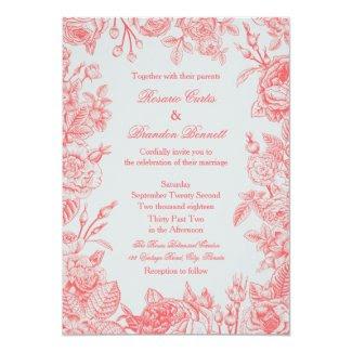 Vintage Roses Wedding Invitation