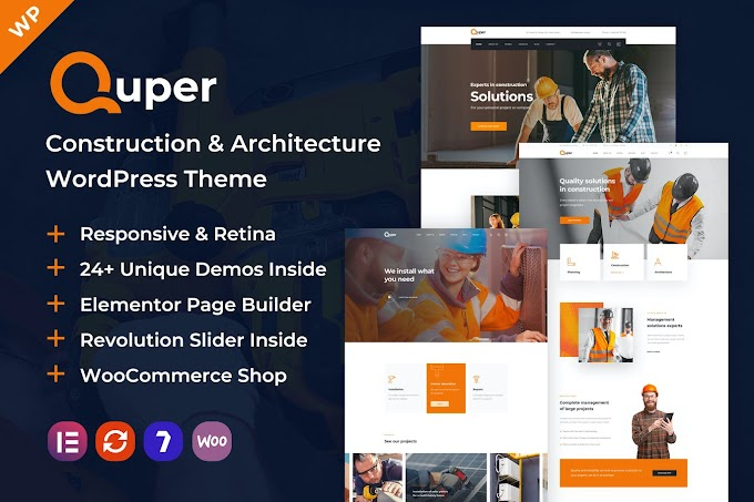 Quper | Construction and Architecture WP Theme