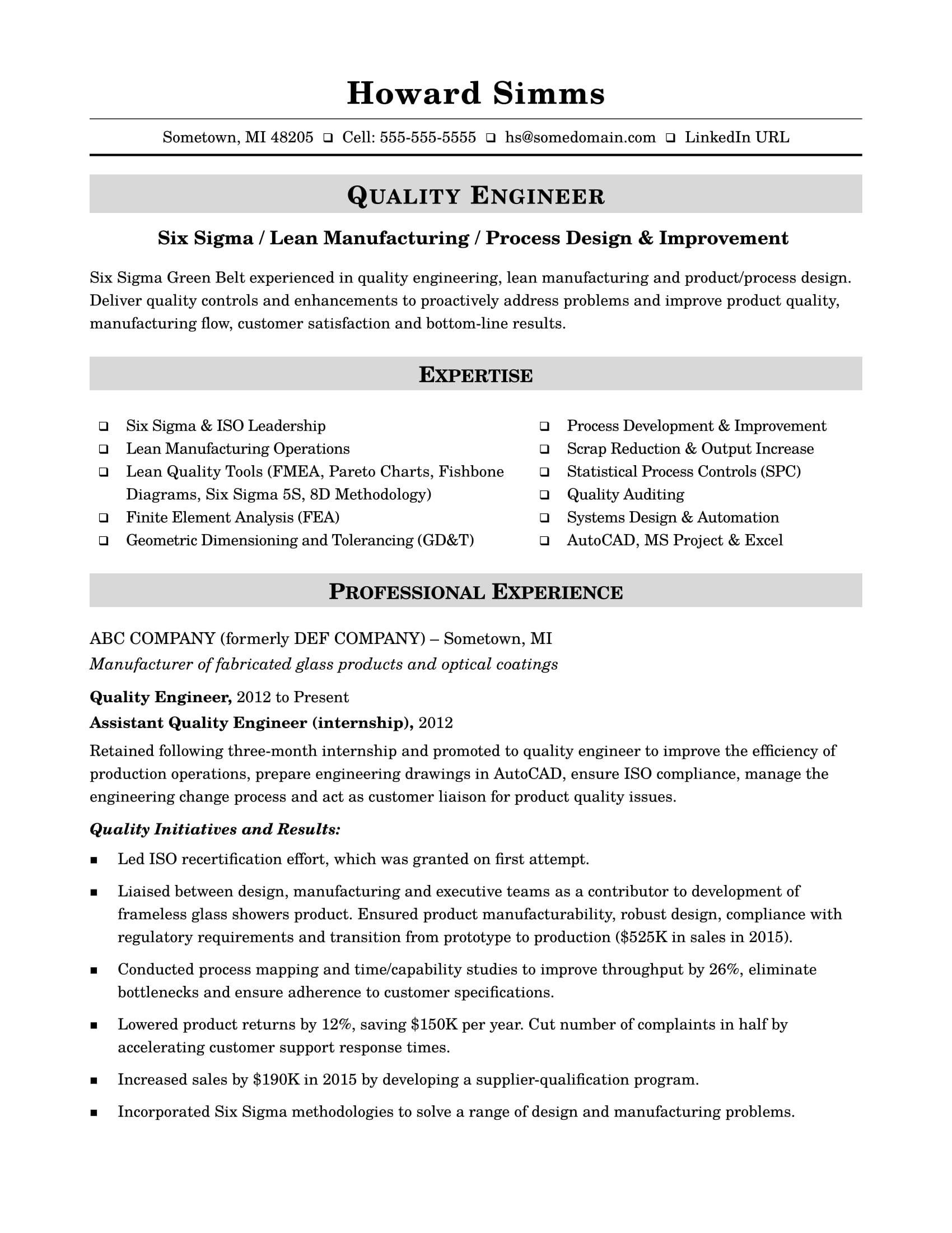 quality engineer midlevel