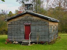 Mill Creek, West Virginia.. one room schoolhouse