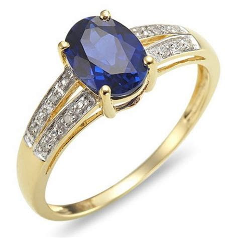 Size 6,7,8,9,10 Blue Sapphire Gold Filled Womens