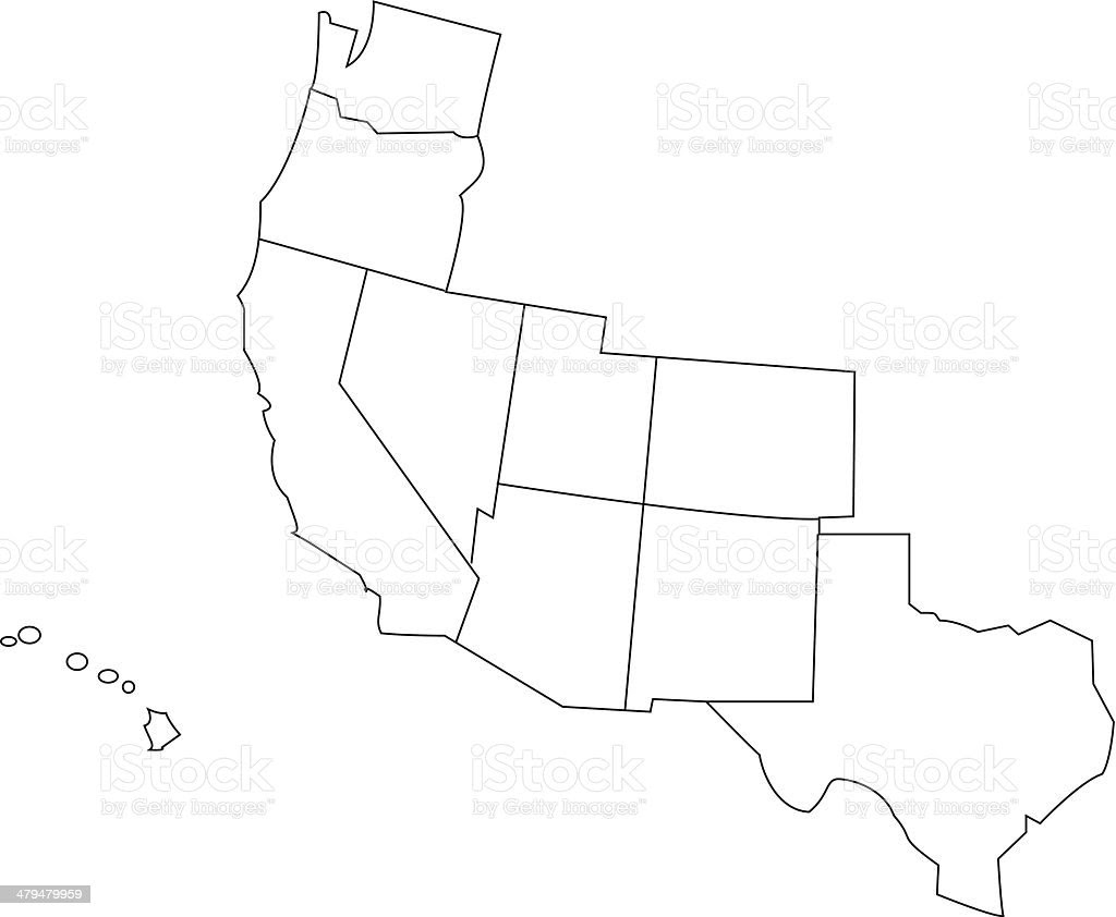 Western Us Outline Map