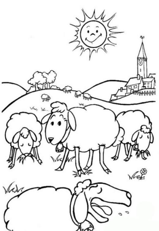 Malvorlagen zum Drucken Ausmalbild Schaf kostenlos 3