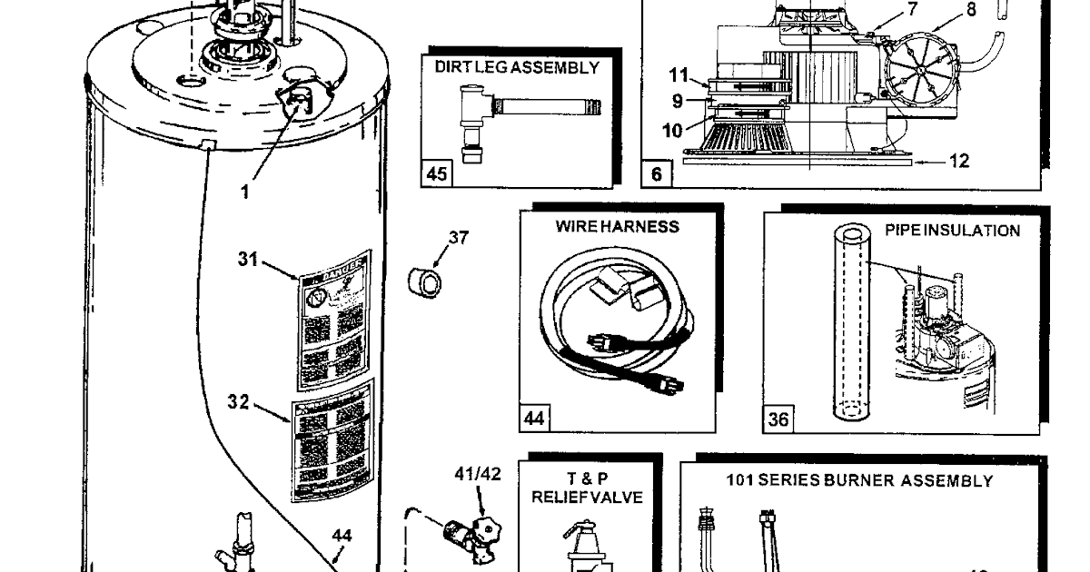 29 Gas Water Heater Parts Diagram