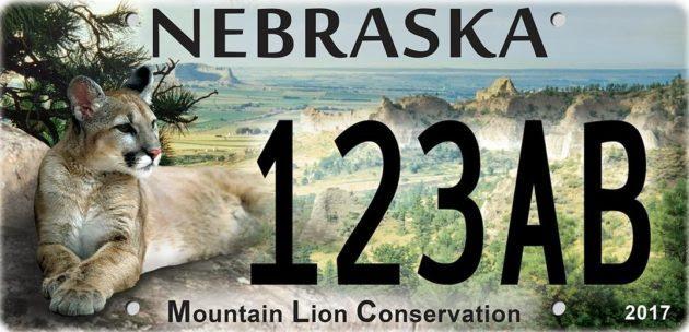 Image result for nebraska mountain lion license plates