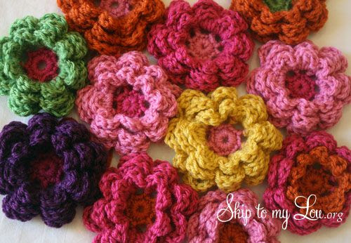 Simple pattern for beautiful crochet flower