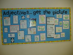 bulletin board--Adjectives...get the picture?