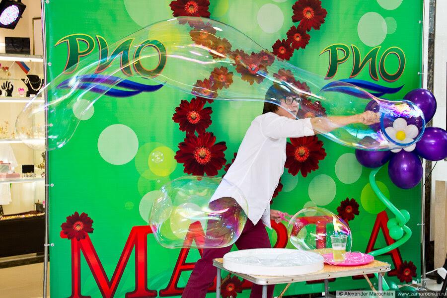 Мыльные пузыри в РИО 8 марта 2013 г