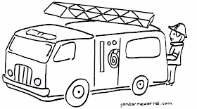 Sketsa Mobil Pemadam