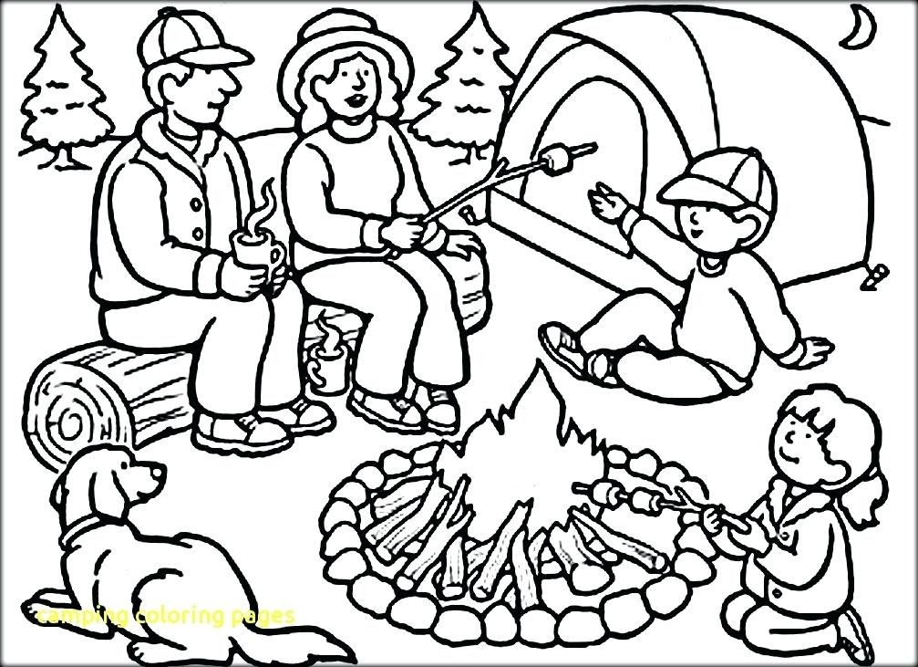 Camping Coloring Pages at GetColorings.com | Free ...
