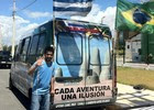 Uruguaios viajaram 4 mil km em van (Gioras Xerez/G1 Ceará)