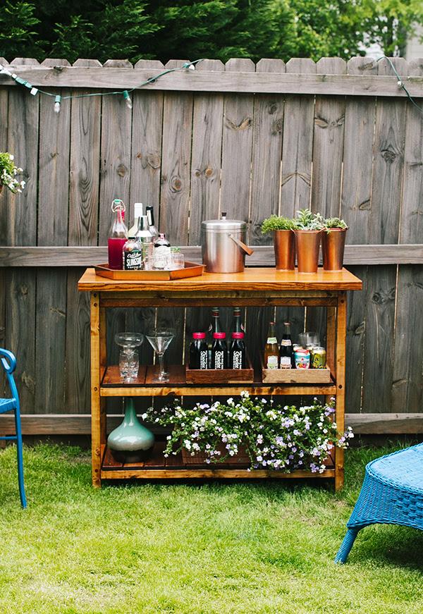 Diy Indooroutdoor Bart Cart Table