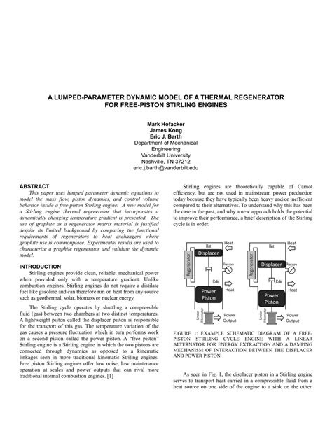 A Lumped-Parameter Dynamic Model of a Thermal Regenerator
