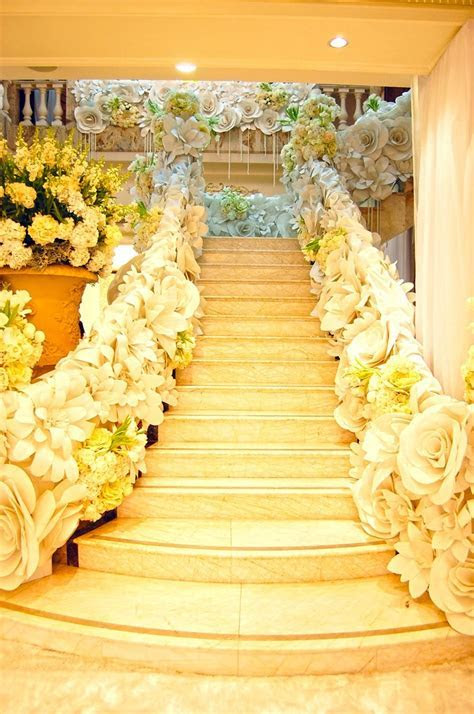 "Paper flower staircase   If I Ever Say ""I Do"