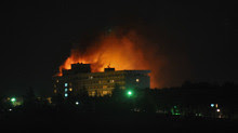 Kabul, Afghanistan hotel was attacked on June 29, 2011. Several people were killed in the building that houses many NATO country personnel that are now occupying the Central Asian nation. by Pan-African News Wire File Photos