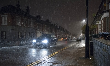 Snowy showers in Coventry on Boxing Day.