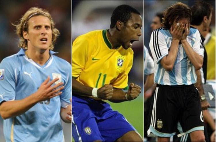 Robinho estava no título de 2007, quer repeti-lo em 2011 e manter jejum argentino e uruguaio