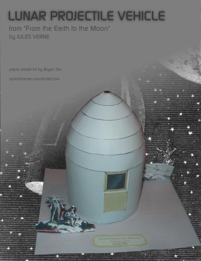 Jules Verne Lunar Projectile Papercraft