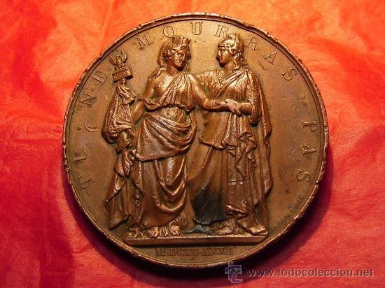 Medallas históricas: medalla Francia apoya a Polonia 1831 - Foto 1 - 21794294