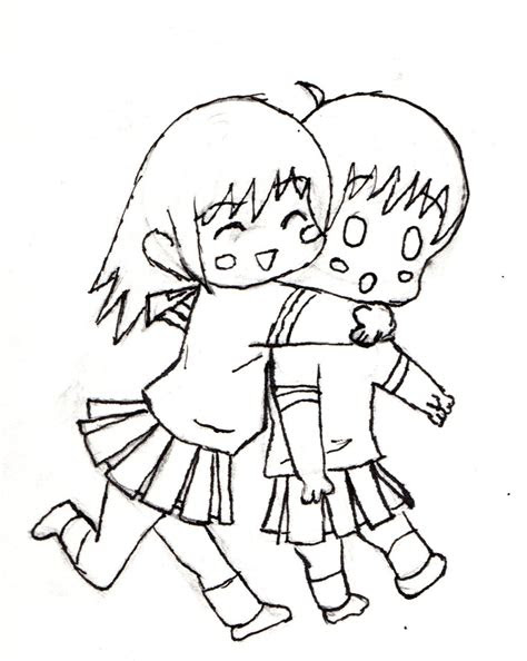 anime  friend drawings tumblr sketch coloring page